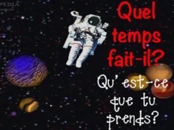 French Powerpoint: Quel temps fait-il? Qu'est-ce que tu prends?