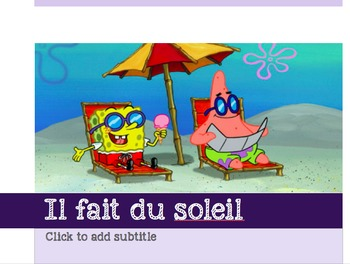 French - Powerpoint - Weather