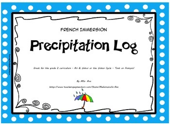 French Precipitation Log