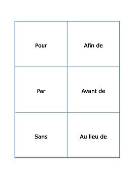 French Preposition Used Before Infinitives