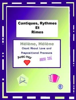 French Prepositional Pronouns - French Rap-like  Chant with exercises and Mp3