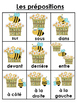 French Prepositions Bundle- Student Vocab, Word Wall Visuals & Writing Booklet