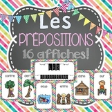 Les prépositions FRENCH POSTERS (16 affiches en français) - FRENCH PREPOSITIONS