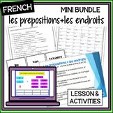 (French) Prepositions + Places MINI BUNDLE