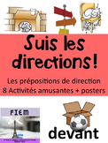 French: Prépositions de direction: Activités: écriture, lecture, écoute