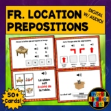 French Prepositions of Location Boom Cards, Digital, Frenc