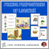 French Prepositions of Location - Reading Exercise and Wri