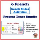 French Present Tense Google Slides Activities Bundle