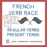 French Present Tense REGULAR VERB RACE GAME