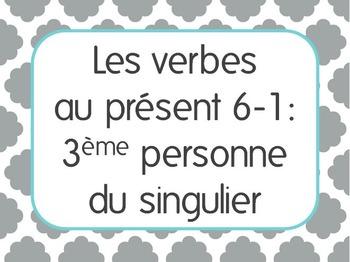 French Present Tense Lesson 1: 3rd person singular verbs -