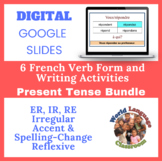 French Present Tense Writing Activities Bundle (Google Sli