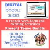 French Present Tense Writing Activities Bundle (Google Sli
