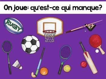 French Presentation and Games: Les sports (jouer)