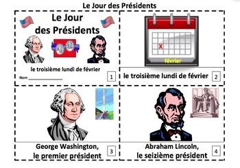 French Presidents' Day Emergent Reader Booklets - Jour des Présidents