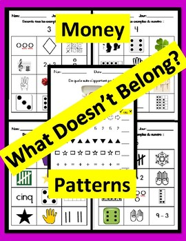 French Primary Math Critical Thinking (Which one doesn't belong?) Worksheets