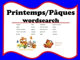 French Spring Paques Wordsearch