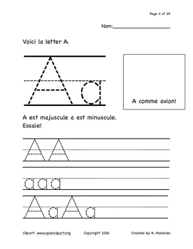 French Printing A-Z booklet