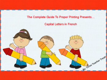 The Complete Guide to Properly Printing Uppercase Letters - in French