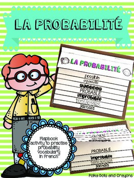 French Probability Flapbook Activity (La probabilité)