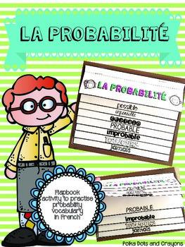 French Probability Flapbook Activity (La probabilité)