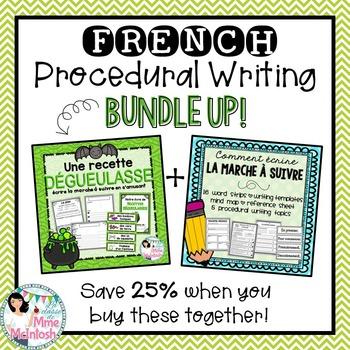 French Procedural Writing BUNDLE / Ensemble: Écrire la marche à suivre
