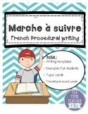 French Procedural Writing - Marche à suivre