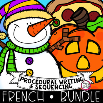 French Procedural Writing & Sequencing {BUNDLE}