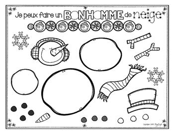 Comment faire un bonhomme de neige ❄ French Procedural Writing & Sequencing