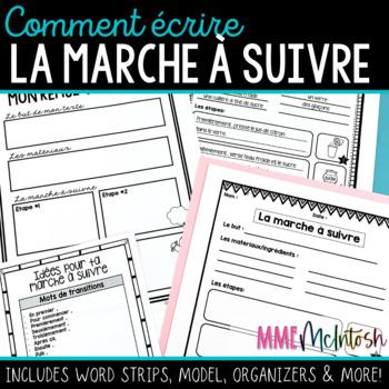 French Procedural Writing/Comment écrire la marche à suivre