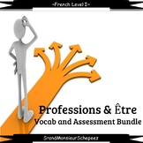 French: Profession and Être Vocab and Assessment Bundle