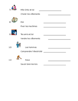 French Profession and Verb Practice