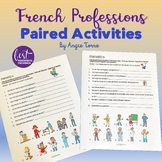 French Professions Les Métiers Paired Activities Distance Learning