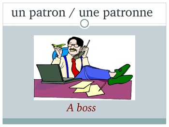 French Professions Vocabulary PowerPoint notes