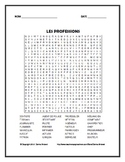 French Professions Vocabulary Word Search Puzzle
