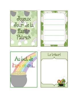 French Project Cards - Jour de la Saint-Patrick