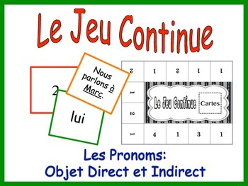 French Pronoun Activity for Groups: Direct and Indirect Object Pronouns