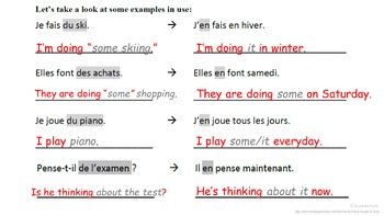 French Pronoun EN (Quantity Pronoun, Adverbial Pronoun): French Quick Lesson