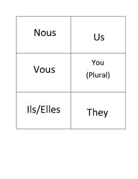 French Pronoun Matching Cards