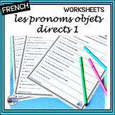 French – Pronouns (1)  – me, te, nous, vous, le, la, les – Worksheet