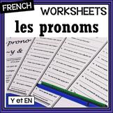French – Pronouns (3) – y/en  – Worksheet