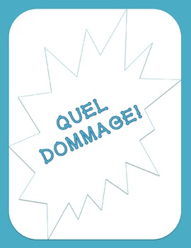 French Pronouns Game - Quel Dommage!
