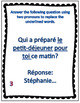 Intermediate French double pronouns task cards - Cartes à tâches