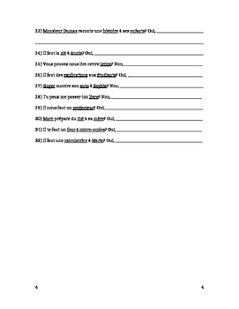 French Pronouns Worksheet