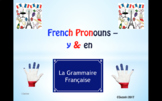 French Pronouns - Y & En - A Complete Guide.