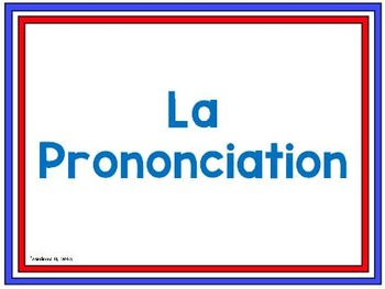 French Pronunciation Posters