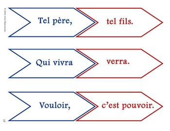 French Proverbs - Activities and Worksheets (Proverbes français)