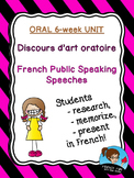 French Public Speaking Speeches - Discours d'art oratoire UNIT