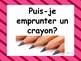 French: Puis-je ....?, classroom prompts, Core and French