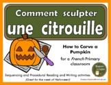 French Pumpkin Carving - Comment sculpter une citrouille - Histoire séquentielle