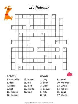 French Vocabulary Puzzle Bundle